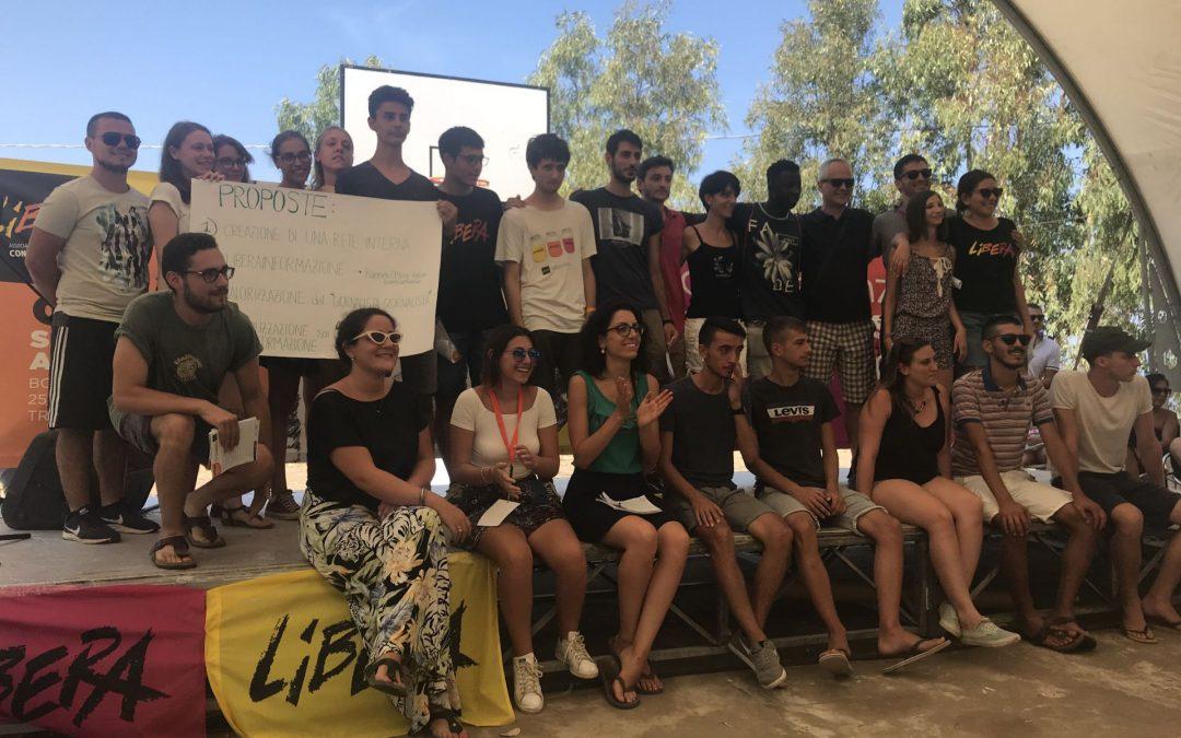 I giovani di Libera al Borgo: memoria e comunicazione per il cambiamento